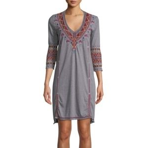 Johnny Was Embroidered T-Shirt Dress